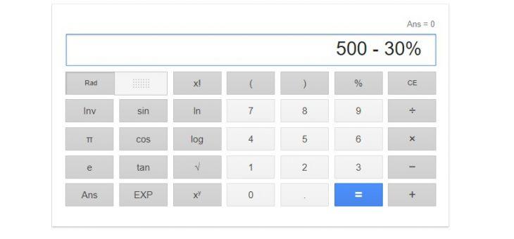 Come si calcola la percentuale sulla calcolatrice
